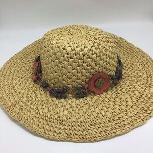 Lucky Brand Boho Straw Paper Hat Beach